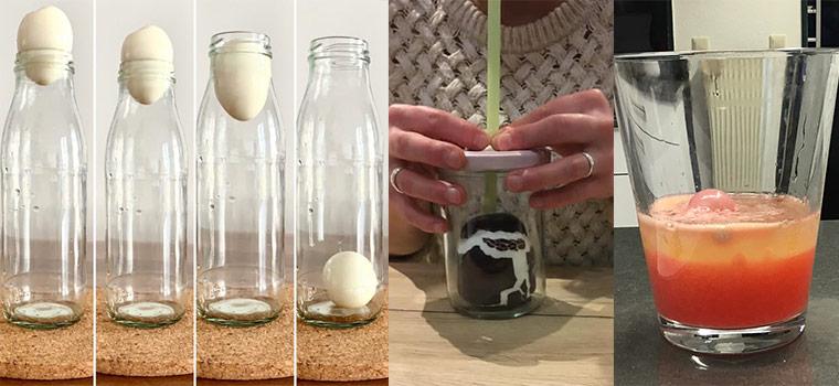 Alexander Coppel Gesamtschule - Das Ei in der Flasche